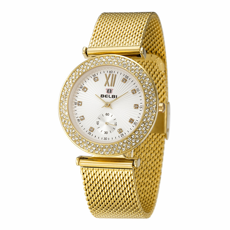 Hodinky Top Luxury Diamond Women Watches Fashion Thin Steel Band BELBI New Wristwatch for Ladies China Watch Famous Brand Clock belbi simple style steel mesh women watch top brand luxury quartz ladies watches elegant fashion dress analog wristwatch clock