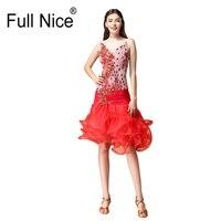 Latin dance regulation clothing fluffy hem For Women Girl High Grade Dress Rumba Flamengo Salsa Samba Ballroom Dance Dress