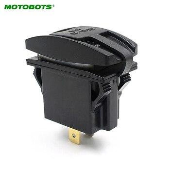 MOTOBOTS 20 Pz Auto/Moto/Bus Interruttore Laser Inciso 12 V-24 V Dual USB Charger con blu HA CONDOTTO la Luce per # AM2113