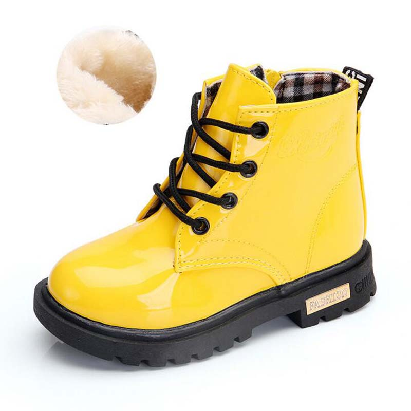 Waterproof Solid Jelly Color Martin Boots 3