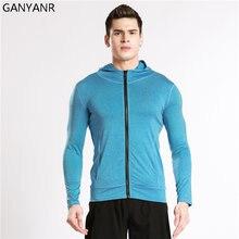 Ganyanr куртка для бега Мужская Спортивная Толстовка ветрозащитная