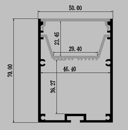 canal de aluminio habitacao ts07d 1 m comprimento 03
