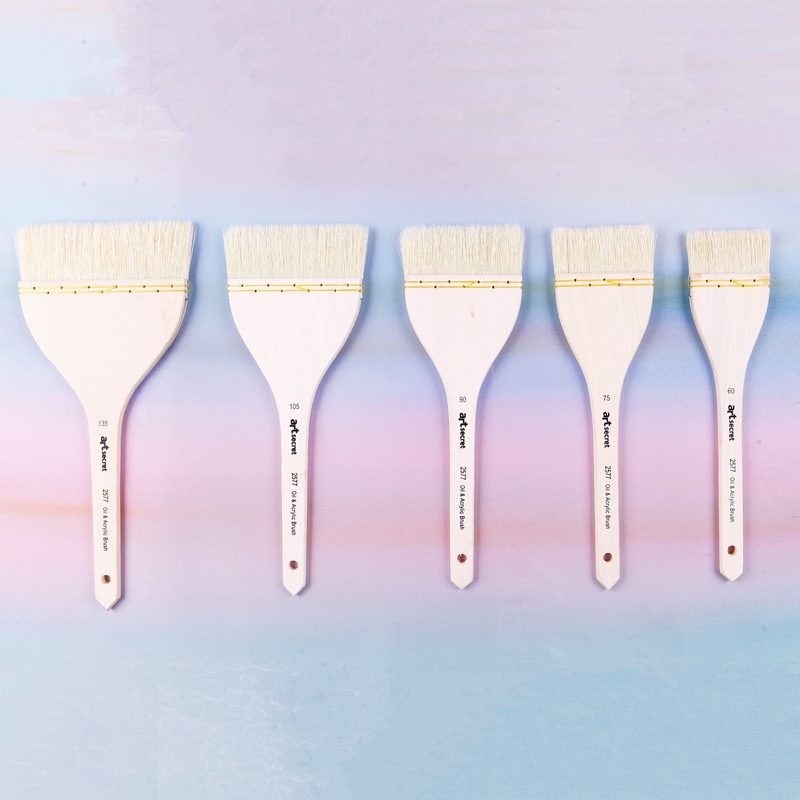 цены на High quality Chongqing bristle hair wooden handle light flexible convenient oil and acrylic painting brush for large area в интернет-магазинах