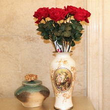 Latex Real Touch Rose Decor Artificial Flowers Silk Floral Wedding Bouquet Home Party Design fabric art
