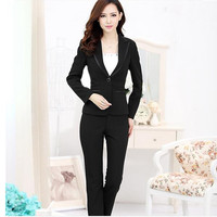 Women Pant Suits Two-piece suit pants Slim workwear pants OL jacket jacket officially set up office OL suit female