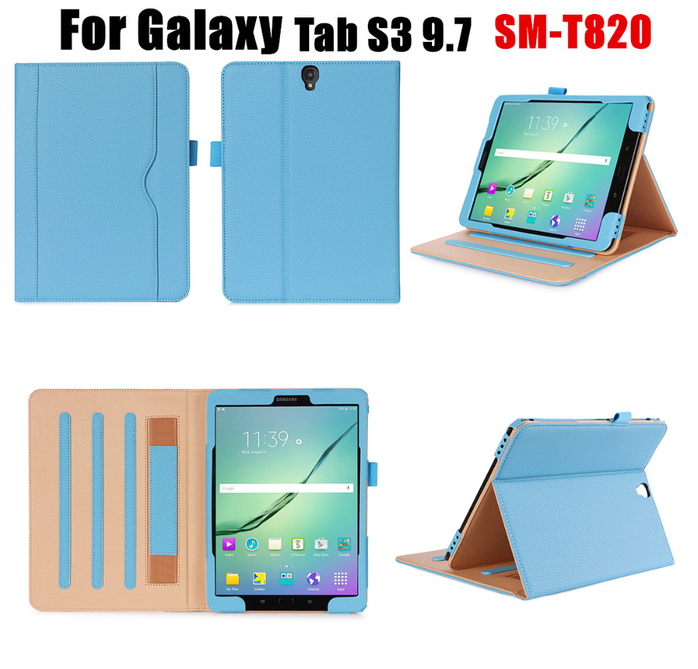 NEWCOOL Business Style Flip Cover Leather Case For Samsung Galaxy TAB S3 9 7 SM T820