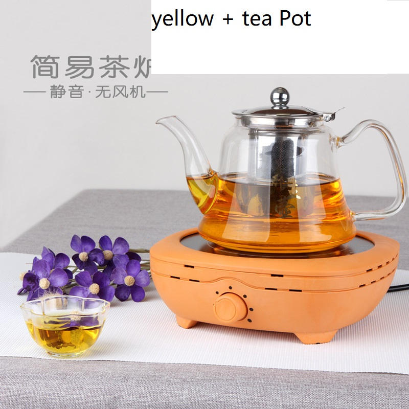 Mini estufa eléctrica de cerámica de 50 60hz AC220 240V para hervir té, calentar café, Cocina eléctrica de 800 w, calentador de café con tetera - 4