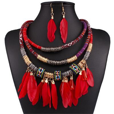 Exaggerated Feather Jewelry...