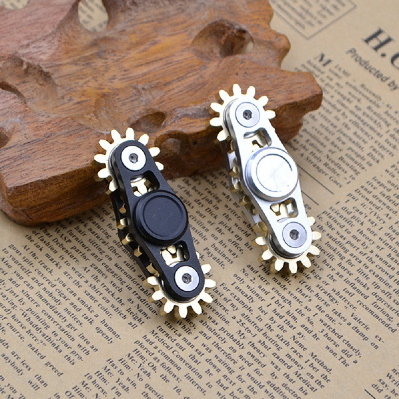 Alloy Metal Copper 3 Gears Fidget Spinner Hand Spinner Finger Spinners Toys For Adult Kids
