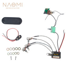 NAOMI Preamp Circuit Bass Line For Bass Active Preamp 3 Band Equalizer EQ Harness Guitar Bass Tone Control System-III(China)
