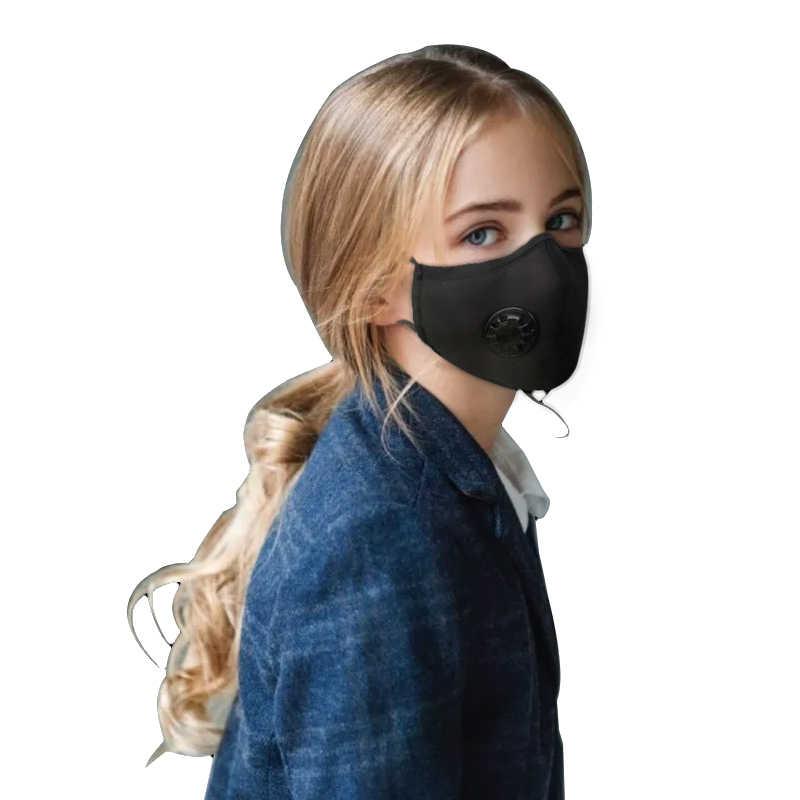 masque anti pollution coton noir