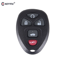 KEYYOU Remote Car Entry Keyless Key Shell Case Fob For Buick For Chevrolet GMC 5 Buttons