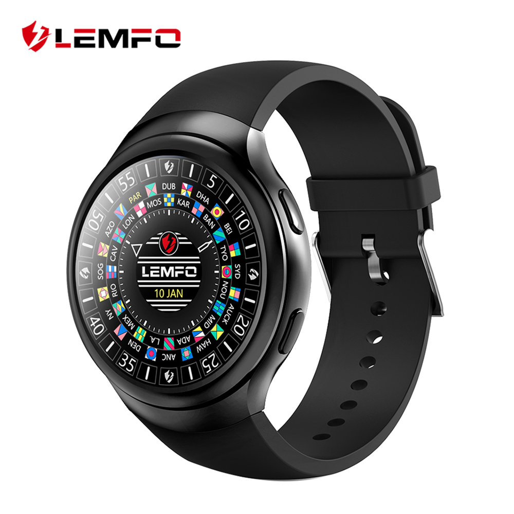 LEMFO LES2 Smart Watch Smartwatch 1GB + 16GB Watch Phone MTK6580 Smartwatch Android GPS 3G Bluetooth for IOS Android Phone 3g smart watch finow k9 android 4 4 bluetooth wcdma wifi gps sim smartwatch colock phone for ios