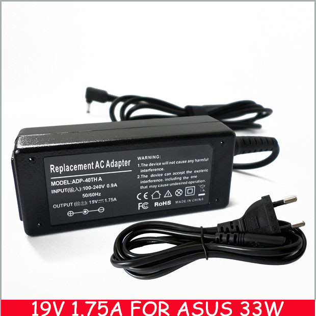 Genuine ASUS 19V 1.75A 33W VivoBook X200LA X200MA X201E Laptop Adapter Charger