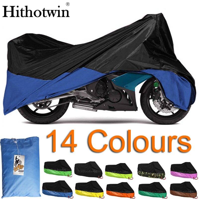 ¡6 tamaños! Cubierta de motocicleta impermeable al aire libre Protector impermeable al aire libre Moto lluvia sol a prueba de polvo Moto paño