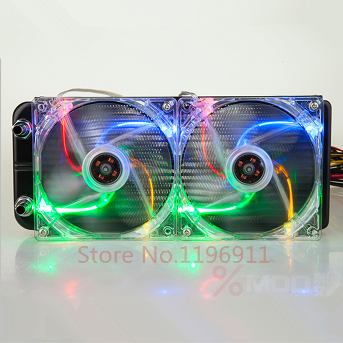 240*30*120mm 360mm Computer Water cooling equipment standard water black aluminum radiator fins Heat exchanger