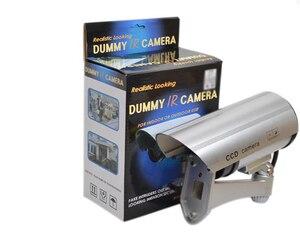 Image 5 - OwlCat wodoodporna/zewnętrzna atrapa kamera ochrony sztuczna kamera/kula Emulational kamera kamera telewizji przemysłowej nadzór domowy LED/Flash