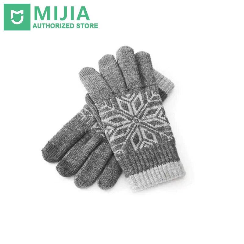 Оригинальный Xiaomi touch Прихватки для мангала Зимняя шерстяная одежда touch практичные теплые варежки для сенсорных устройств для Для мужчин и Д...