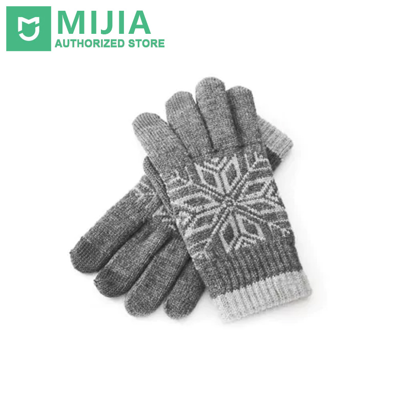 Original Xiaomi Touch <font><b>Gloves</b></font> Winter Wool Touch Practical Warm Mitten for Touchscreen Devices For <font><b>Men</b></font> And Women