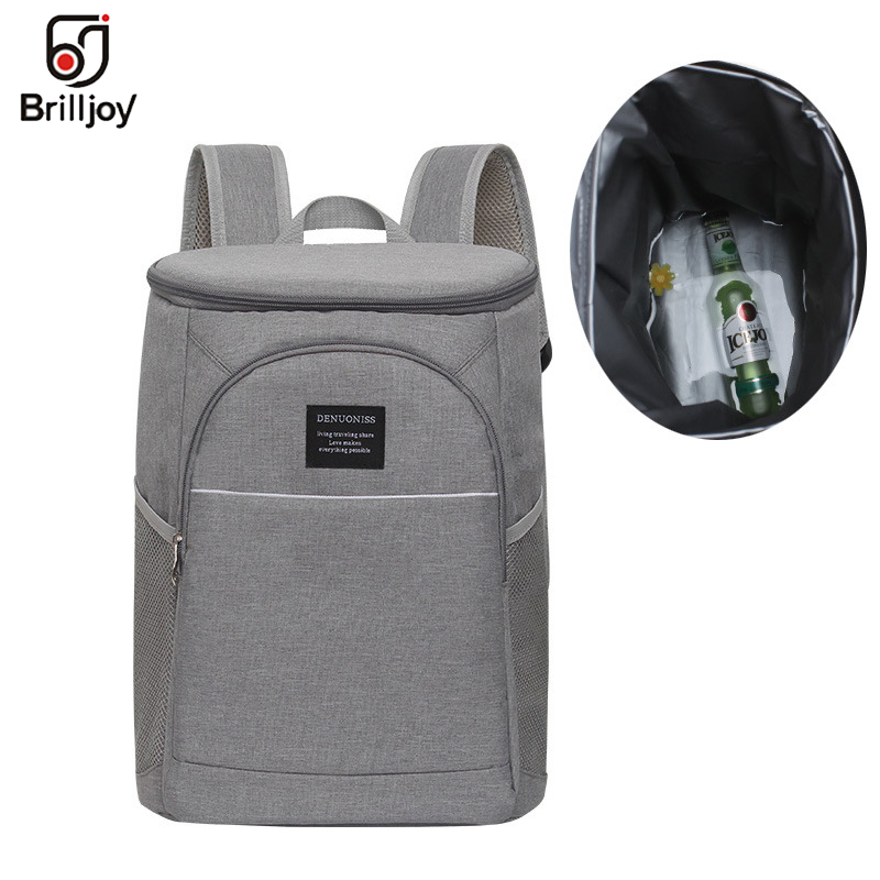 Brilljoy 18L oxford cooler Wine bag thermo lunch picnic box insulated cool backpack ice pack fresh carrier thermal shoulder bags image