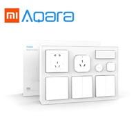 Xiaomi Aqara Air Conditioner Temperature And Humidity Sensor Body Sensor Wall Socket Wall Switch 2Pcs Wireless Switch Smart Kit