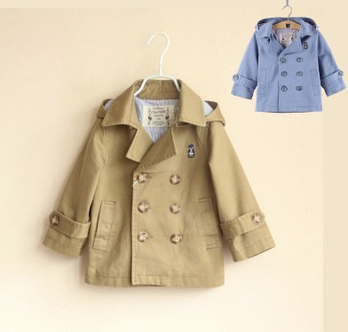 New Winter Brand autumn khaki outerwear windbreaker for boys trench design children clothing coat FREE SHIPPING