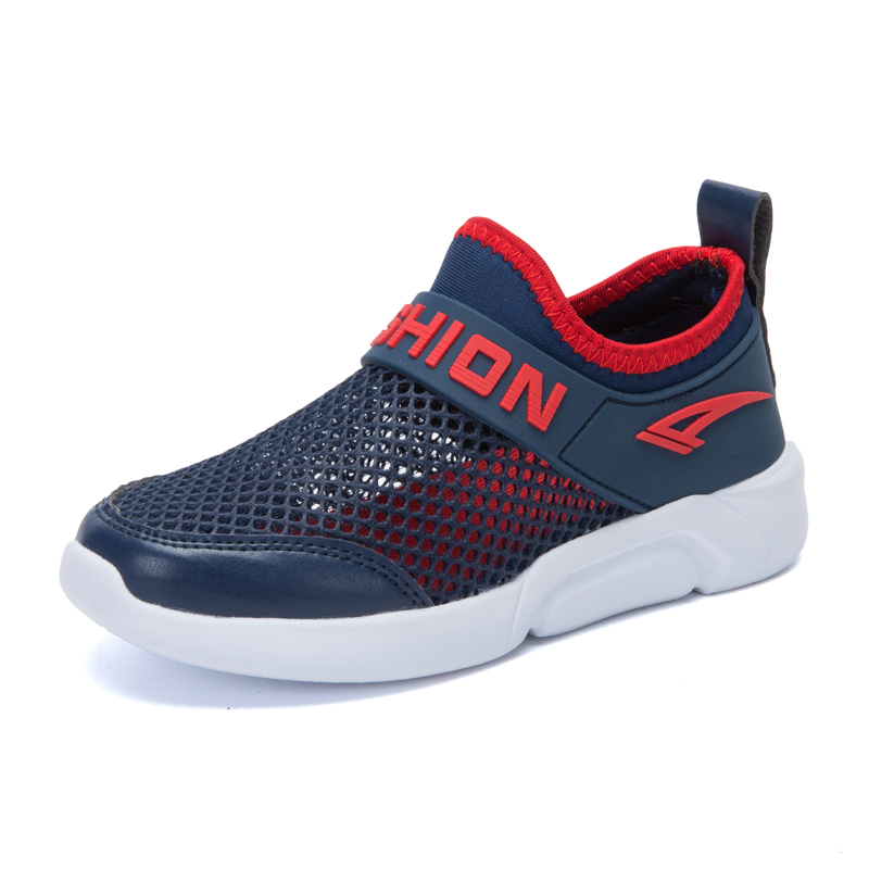 Children Causal Shoes Mesh Breathable shoes FOR BOY good quality Sneakers White Blue color Comfortable Kids Flats Shoes Non-slip