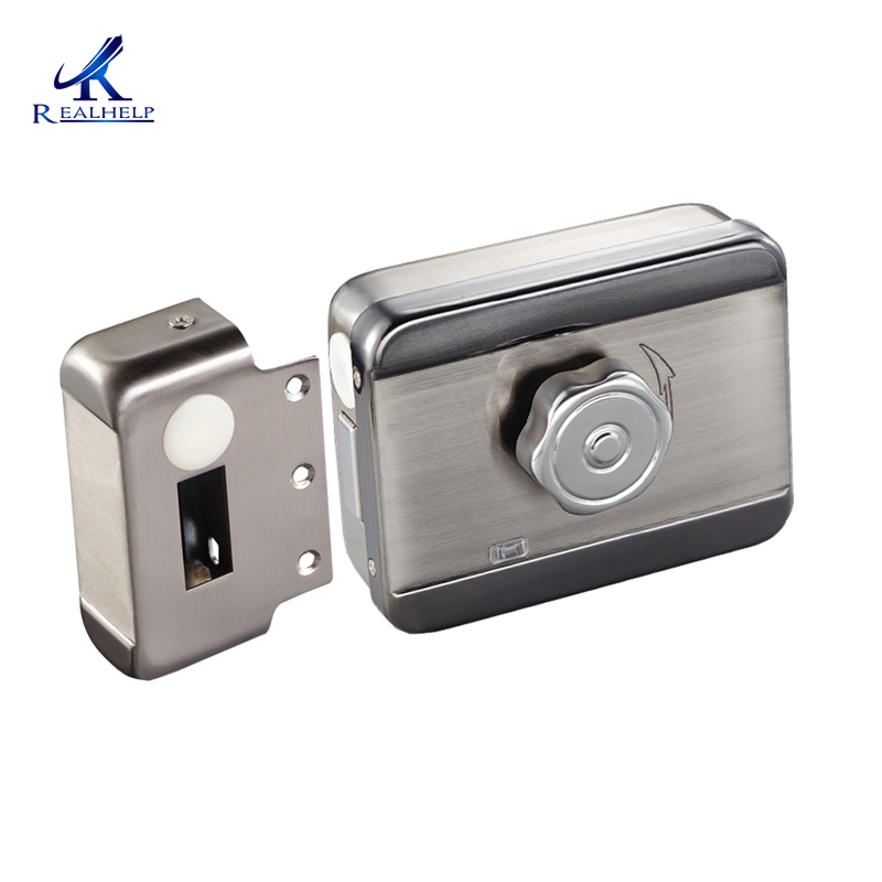 Door Status Auto Detect Electric Locks Motor Lock Stainless Steel Intelligent Electric Lock Low Noise Lock Surface Drawing
