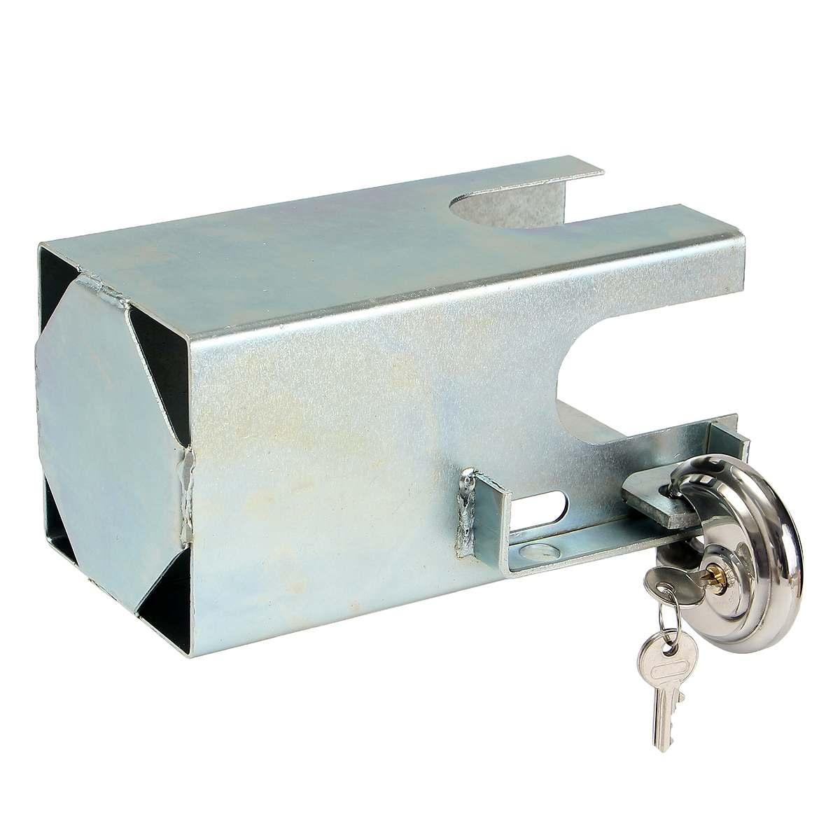 Metal Universal Trailer Security Lock Tow Anti Theft Lock With 2 Keys