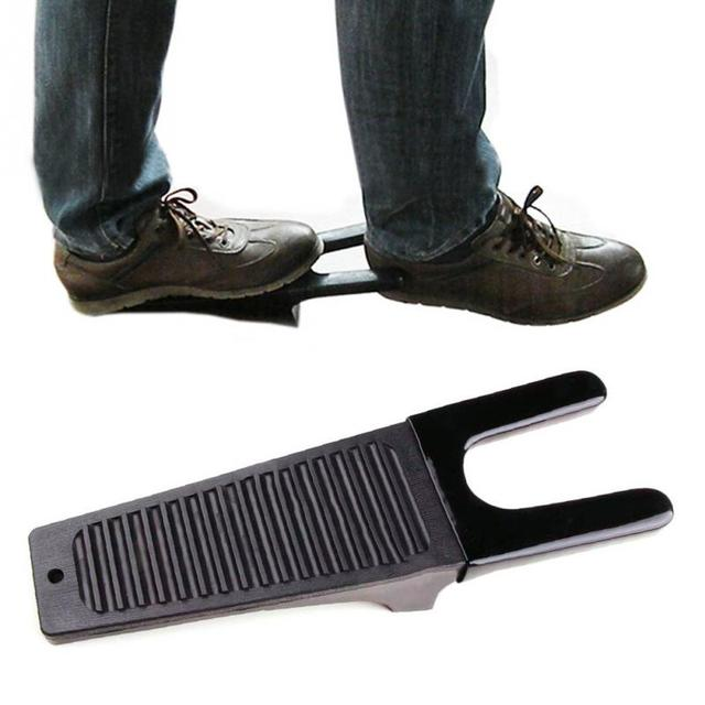 1Pc Black Boot Jack Puller Shoe Foot Scraper Cleaner Remover Camping Outdoor Tool