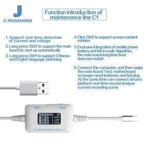 Image 4 - Cable de reparación inteligente JC C1 Detector de corriente y voltaje para iPhone 6 6 s 7 8 8 P X placa base culpa de enraizamiento de reparación