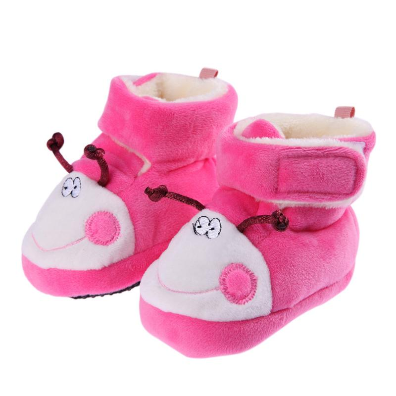 Baby Shoes Breathable Newborn Winter Warm Boots Newborn Infant Cartoon Cute First Walker Soft Bottom Classic Shoes