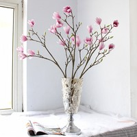 Good Quality Magnolia Spray Free Shipping Silk Artificial Flowers High Simulation Wedding Flowers Home Decoration