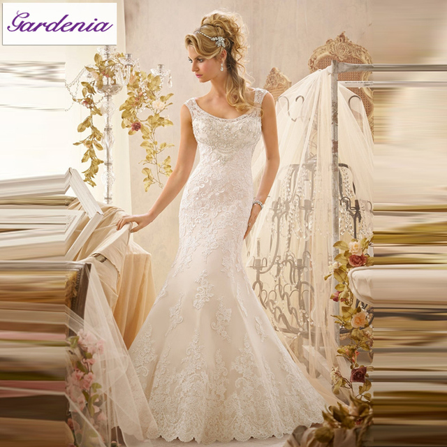 Us 289 0 Gorgeous Floor Length Appliqued Sheath Bridal Gown Lace Designer Bridal Gown Patterns Wedding Sarees Online As600 In Wedding Dresses