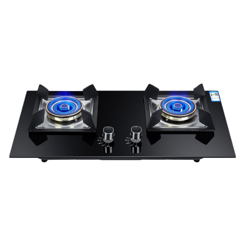 4.2kw Bulit-in Gas Hobs Dual-cooker For Liquefied Gas And Natural Gas Full Brass Fire Cover Bulit-in Hobs Dropshipping