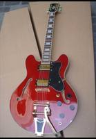 Free Shipping New Custom 1959 Jazz Electric Guitar With Bigsby Bridge Mahogany Body Neck In Cherry
