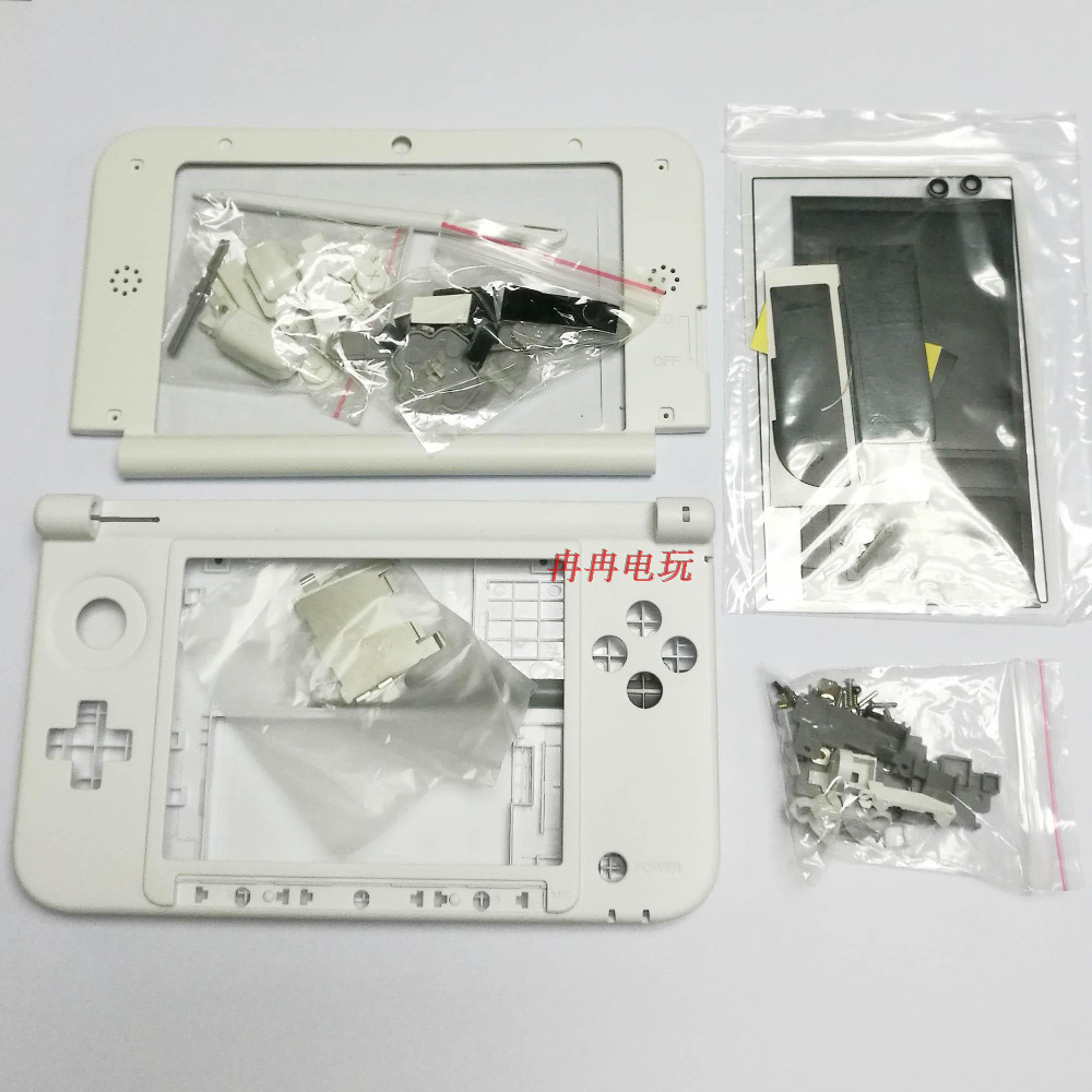 For 3DS XLLL Shell white Game Console replacement full housing cover case with Buttons free shipping