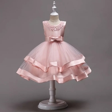 Teenagers Kids Girls Wedding  Dress elegant Princess Party Pageant Christmas Formal Sleeveless Dress Clothes luxury fashion long sleeve autumn winter elegant flower girls girl dress kids teenagers wedding piano princess christmas dress