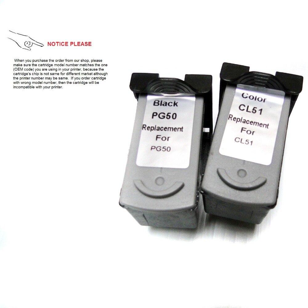 YOTAT 1set PG50 gereviseerd Inktpatroon PG-50 CL-51 voor Canon PIXMA - Office-elektronica