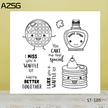 AZSG Cookies Cake Jam Clear Stamps/Seals For DIY Scrapbooking/Card Making/Album Decorative Silicone Stamp Crafts