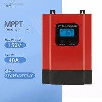 MPPT 12V 24V 36V 48V Auto Solar Charge Controller Esmart3 40A Solar Panel Battery Charge Controller with LCD Display and RS485