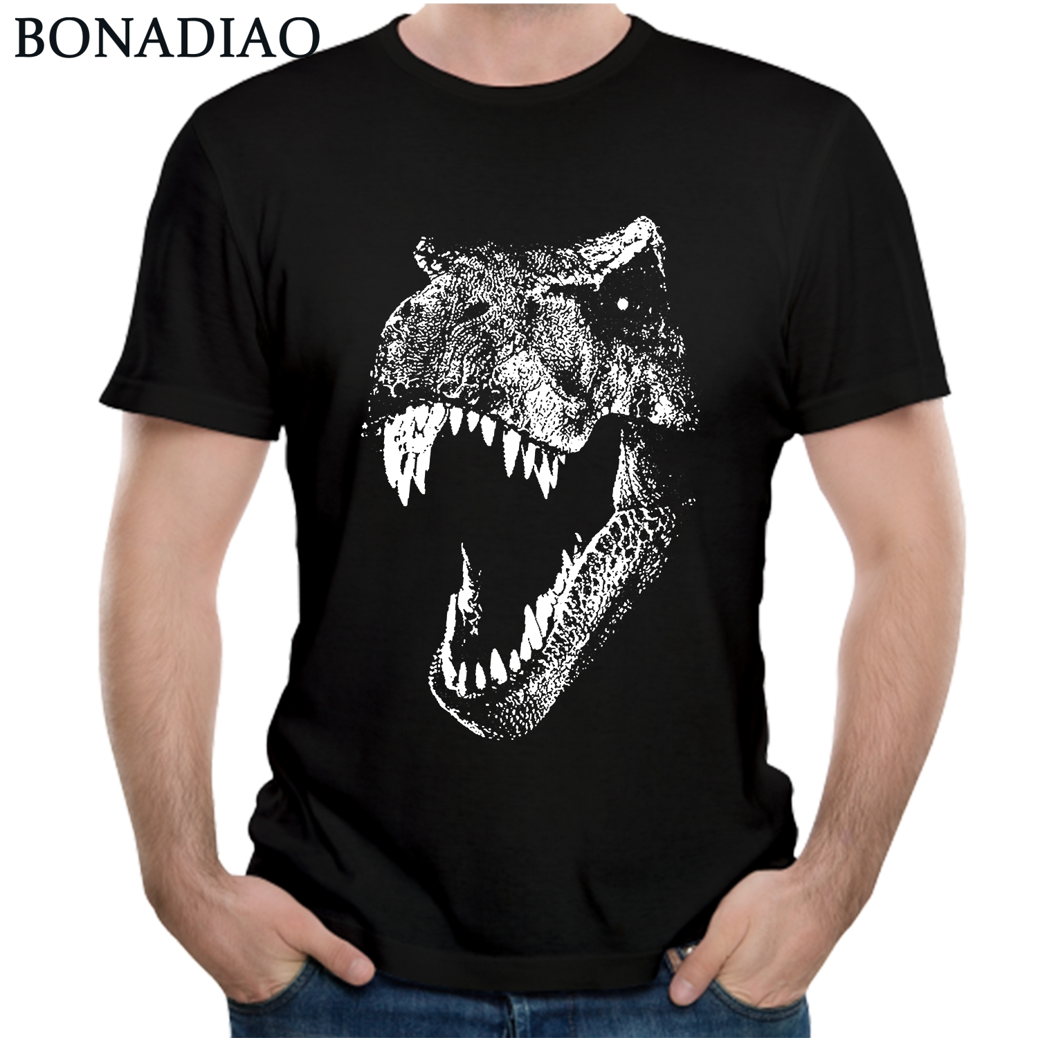 Jurassic Park Tees 2018 Awesome Design Dinosaur Jurassic Park   T     Shirt   For Man Cotton Homme Tee   Shirt   Camiseta
