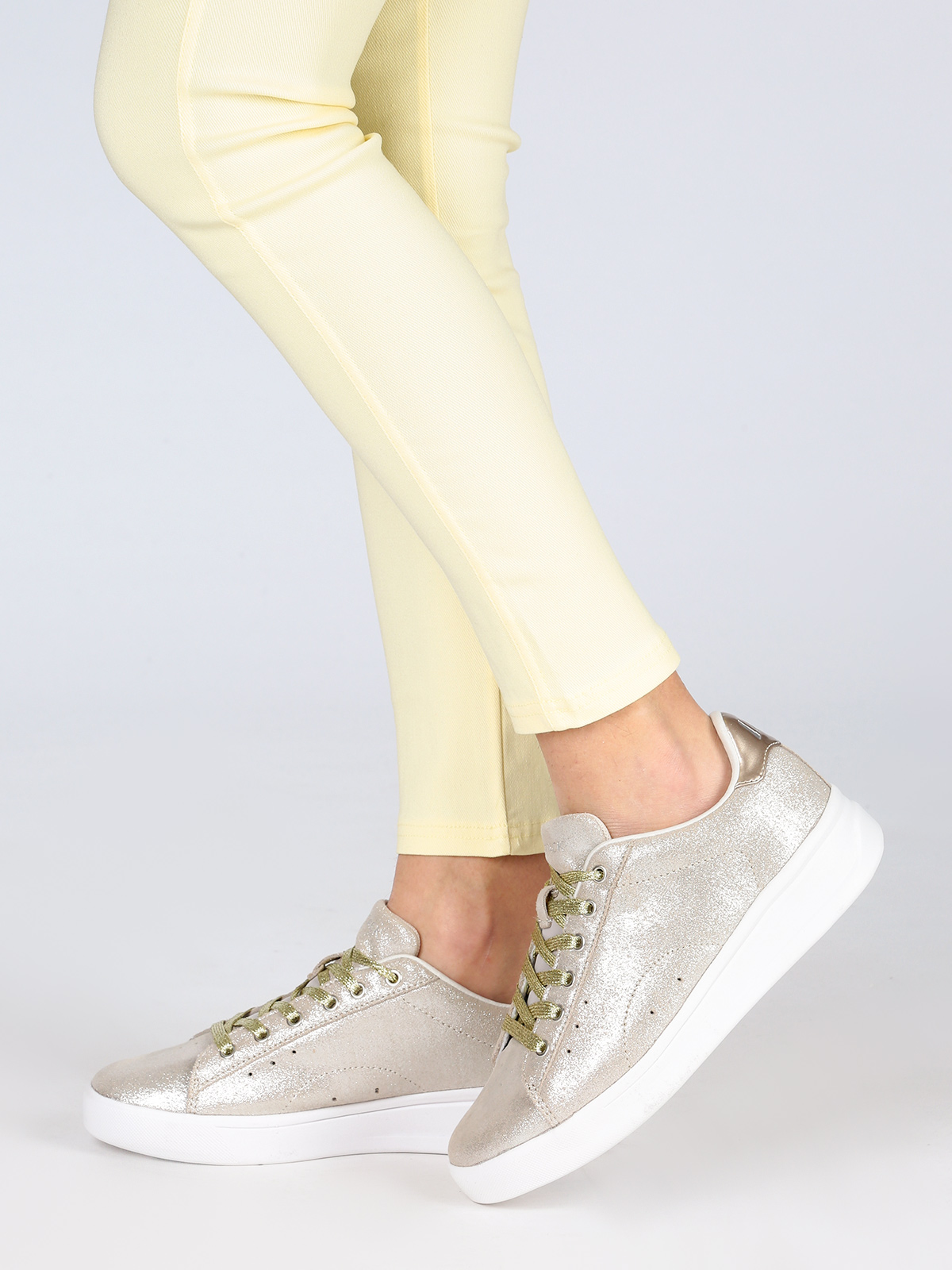 Leather Sneakers Flat
