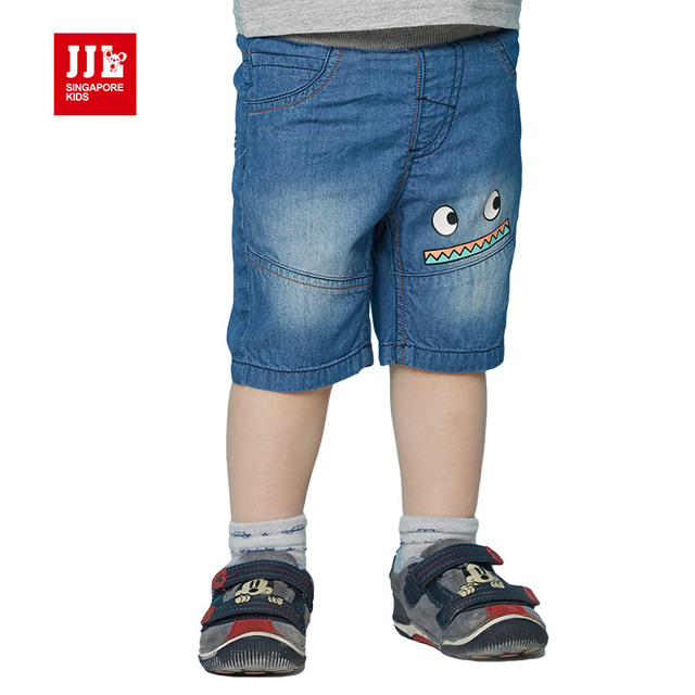 Retail 2016 new summer kids clothing boys girls straight pants 100% cotton half trousers baby jeans baby boys clothes trousers