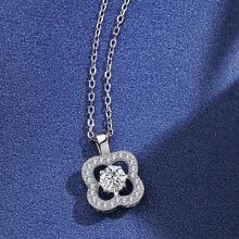 Moda kwiat kryształ srebrny wisiorek naszyjniki dla kobiet 925 srebrny łańcuch biżuteria ślubna kochanka prezent