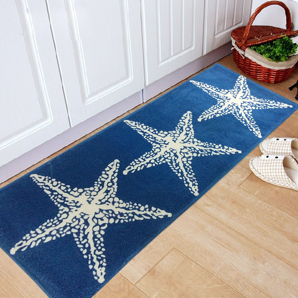 Yazi Mediterranean Style Blue Starfish Kitchen Floor Mat Rug Plush Anti  Slip Bedroom Doormat Home Decor Tapete In Mat From Home U0026 Garden On  Aliexpress.com ...