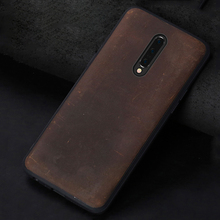 Natural genuine leather case For Oneplus 7 Pro 6 6T cover One Plus 5 5T soft edge Full Protective for one plus