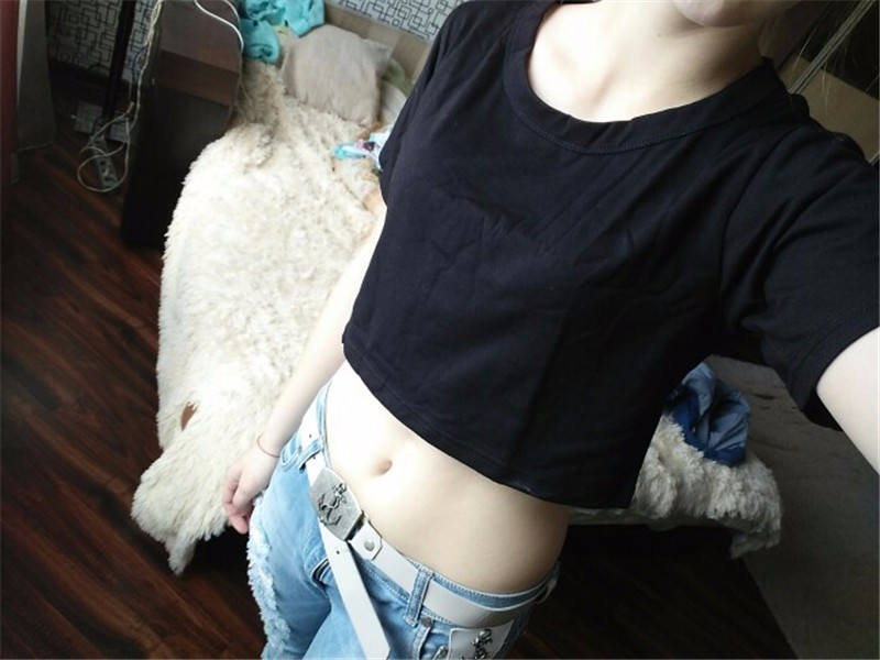 HTB1QKOCNFXXXXb8XFXXq6xXFXXXy - Harajuku T Shirt Women Casual Crop Top JKP103