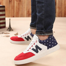 Autumn and winter canvas low men's casual shoes England n word shoes Korean trend