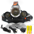 Best C-XM-L T6 8000 Lumen LED Headlamp Headlight Caming Hunting Head Light Lamp 4 Modes +2*18650 Battery + AC/Car Charger